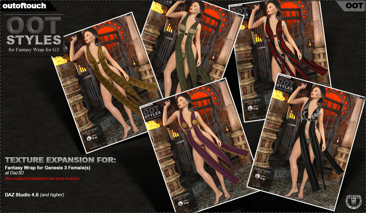 OOT Styles for Fantasy Wrap for Genesis 3 Female(s)byoutoftouch()