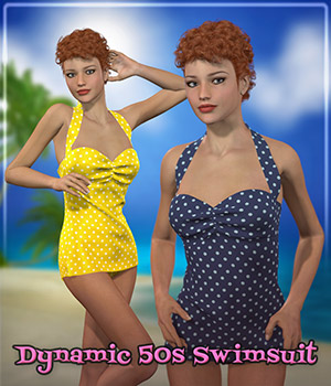 Dynamic 50s Swimsuit 3D Figure Assets Frequency