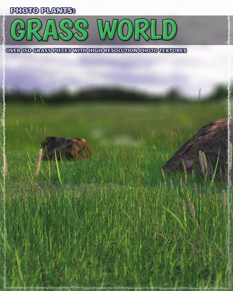 Photo Plants: Grass World by ShaaraMuse3D
