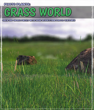 Photo Plants: Grass World 3D Models ShaaraMuse3D