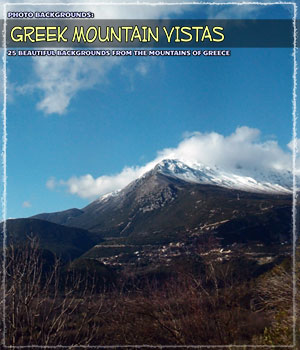 Photo Backgrounds: Greek Mountain Vistas 2D Graphics ShaaraMuse3D