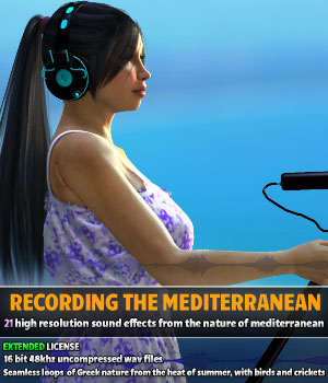 Recording the Mediterranean - Extended license Extended Licenses Merchant Resources Music  : Soundtracks : FX ShaaraMuse3D