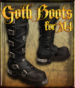 Goth Boots for M4 3D Figure Essentials nfredman