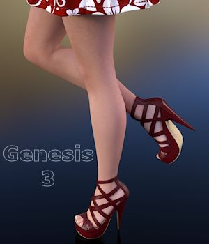 Strap Happy for Genesis 3 Females 3D Figure Essentials WildDesigns