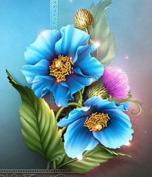Moonbeam's Himalayan Blue Poppies 2D Merchant Resources moonbeam1212