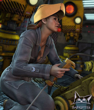 WelderGirl 3D Figure Essentials 3D Models BadKittehCo