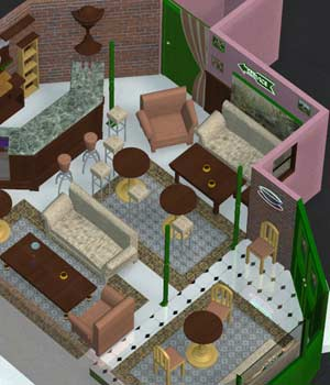 Cuppa Joe Coffee Shop Interior (for Poser) 3D Models VanishingPoint