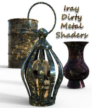 Iray Dirty Metal Shaders 3D Figure Essentials fictionalbookshelf