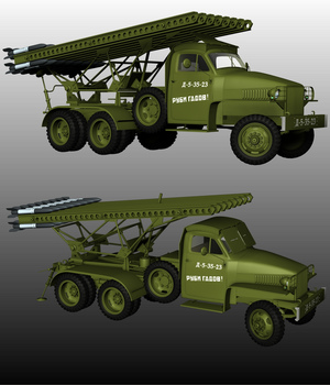 US6 KATIUSHA LAUNCHER 3D Models Nationale7