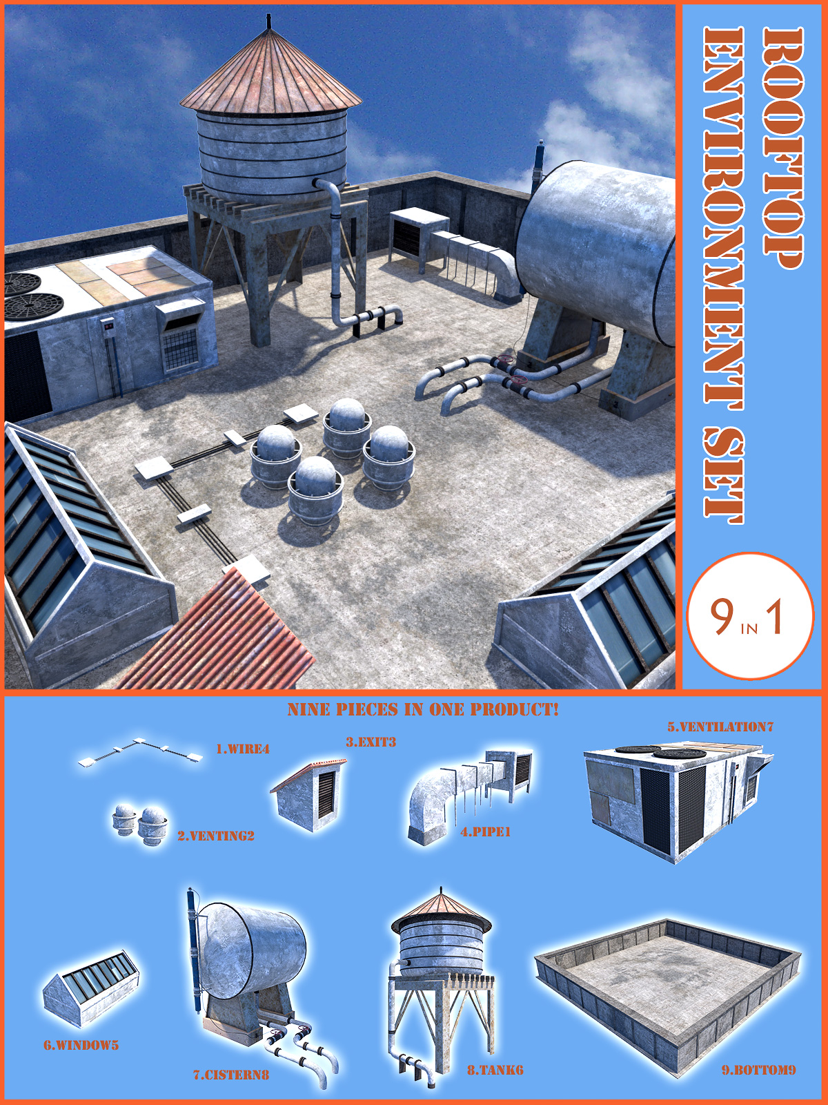 Rooftop environment set by 1971s