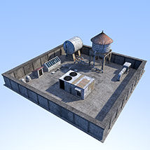 Rooftop environment set image 1