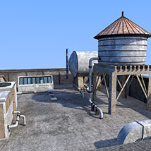 Rooftop environment set image 2