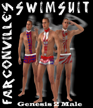 Swimsuit for Genesis 2 3D Figure Essentials farconville