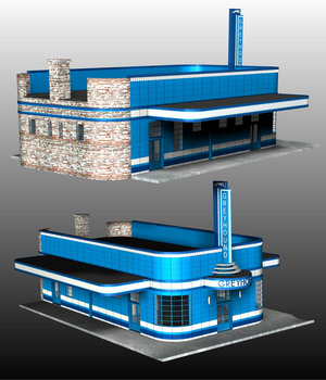BLYTHEVLLE BUS STATION 3D Models 3DClassics