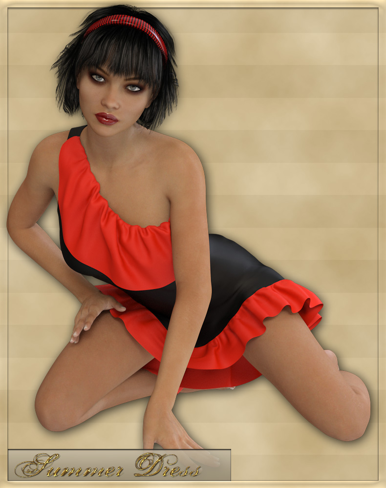 Summer Dress for Genesis 3 Female