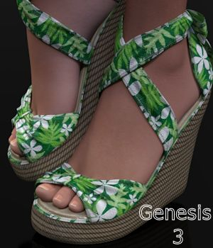 TiedUp Wedgies for Genesis 3 Females 3D Figure Essentials WildDesigns