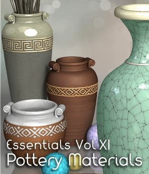 Essentials Vol XI Pottery 3D Figure Assets fabiana