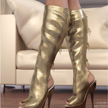 Hot Pepper Boots for Genesis 3 Females image 1