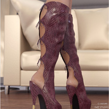 Hot Pepper Boots for Genesis 3 Females image 2