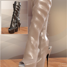 Hot Pepper Boots for Genesis 3 Females image 4
