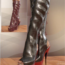 Hot Pepper Boots for Genesis 3 Females image 3