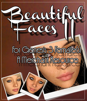 Beautiful Faces II For G3F - Merchant Resource 2D Graphics Merchant Resources Belladzines