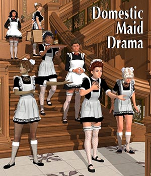 Domestic Maid Drama 3D Figure Assets Don