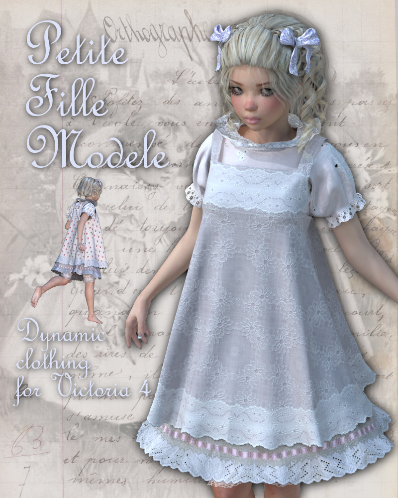PetiteFilleModele Dynamic clothing for V4 3D Figure Assets