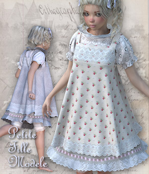 PetiteFilleModele Dynamic clothing for V4 3D Figure Essentials Tipol