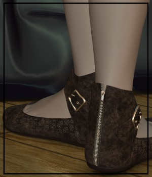 Steppin' : Sierra Ankle Strap Shoes 3D Figure Assets 3-DArena