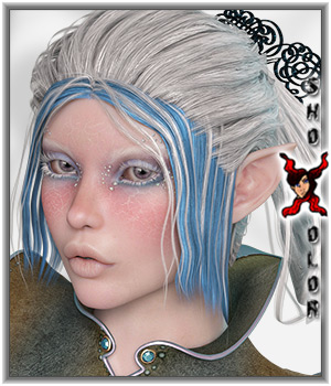 ShoXoloR for Elven Desire Hair 3D Figure Essentials ShoxDesign