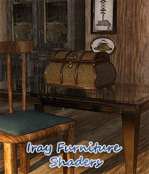Iray Furniture Shaders 3D Figure Essentials fictionalbookshelf