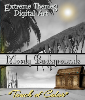 "Moody Backgrounds - ""Touch of Color"" 2D ExtremeThemes"