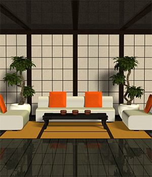 Asian-Styled Living Room Set 3D Models Richabri