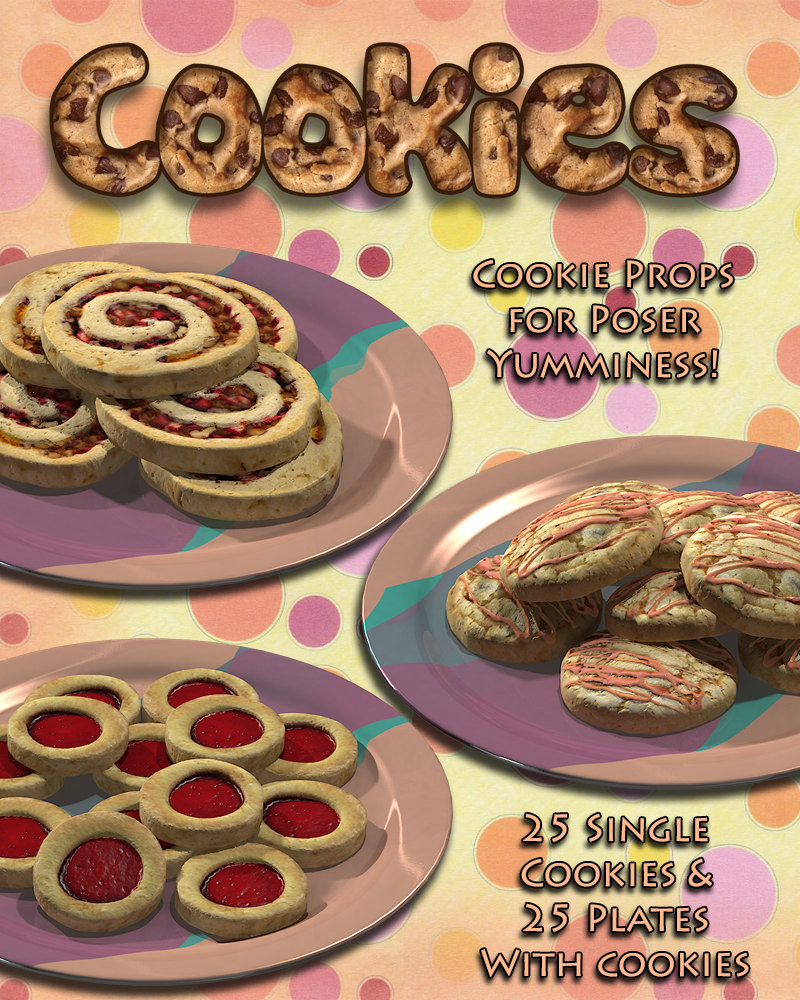 Exnem Cookies Props for Poser