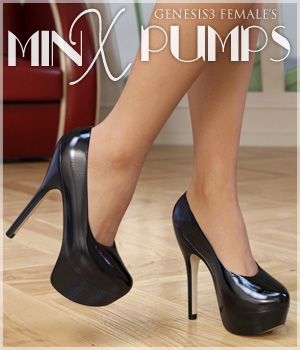 Minx Pumps for Genesis 3 Females 3D Figure Assets lilflame