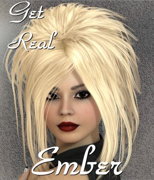 Get Real for Ember hair 3D Figure Assets chrislenn