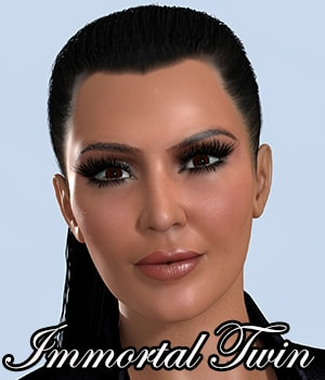 IT29 High Octane Ponytail for V4 3D Figure Assets SAS3D