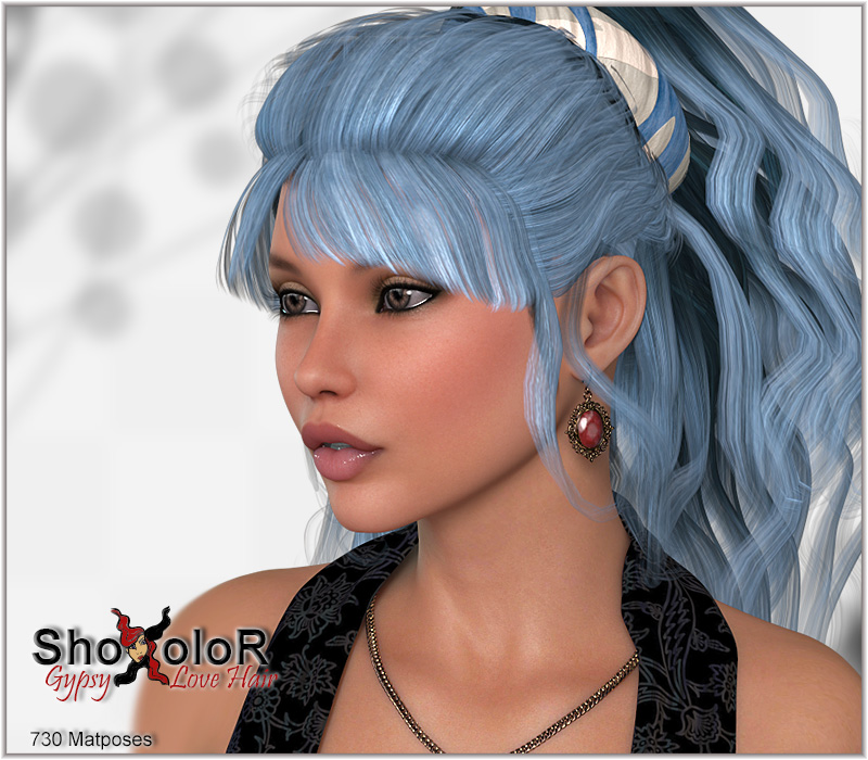 cc379b1a03 ShoXoloR for Gypsy Love Hair 3D Figure Assets ShoxDesign
