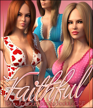 Faithful for Lace Teddy 3D Figure Assets ShanasSoulmate