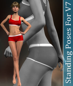 Standing Poses for V7 3D Figure Assets halcyone