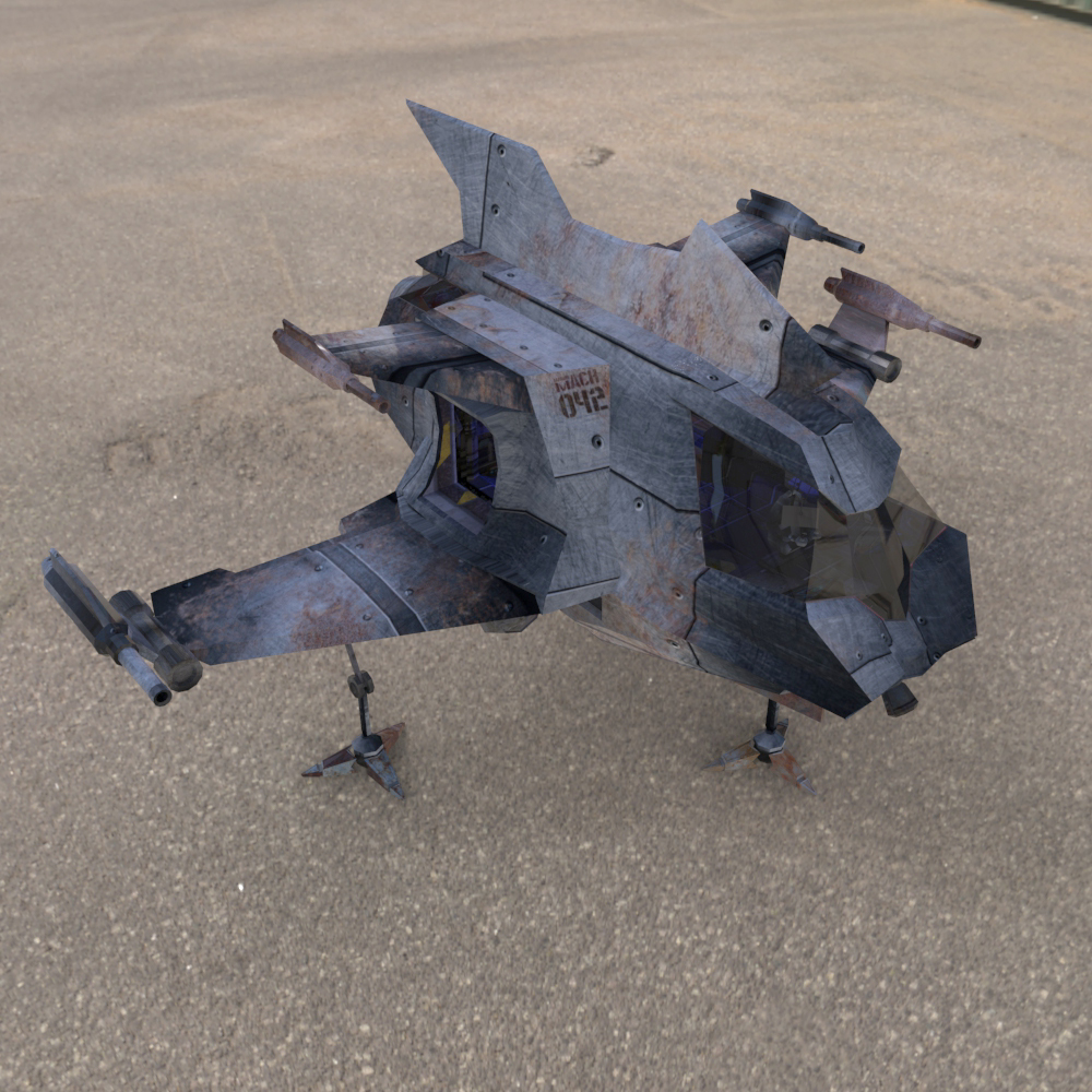 Hawk MACH Shuttle (for Poser)