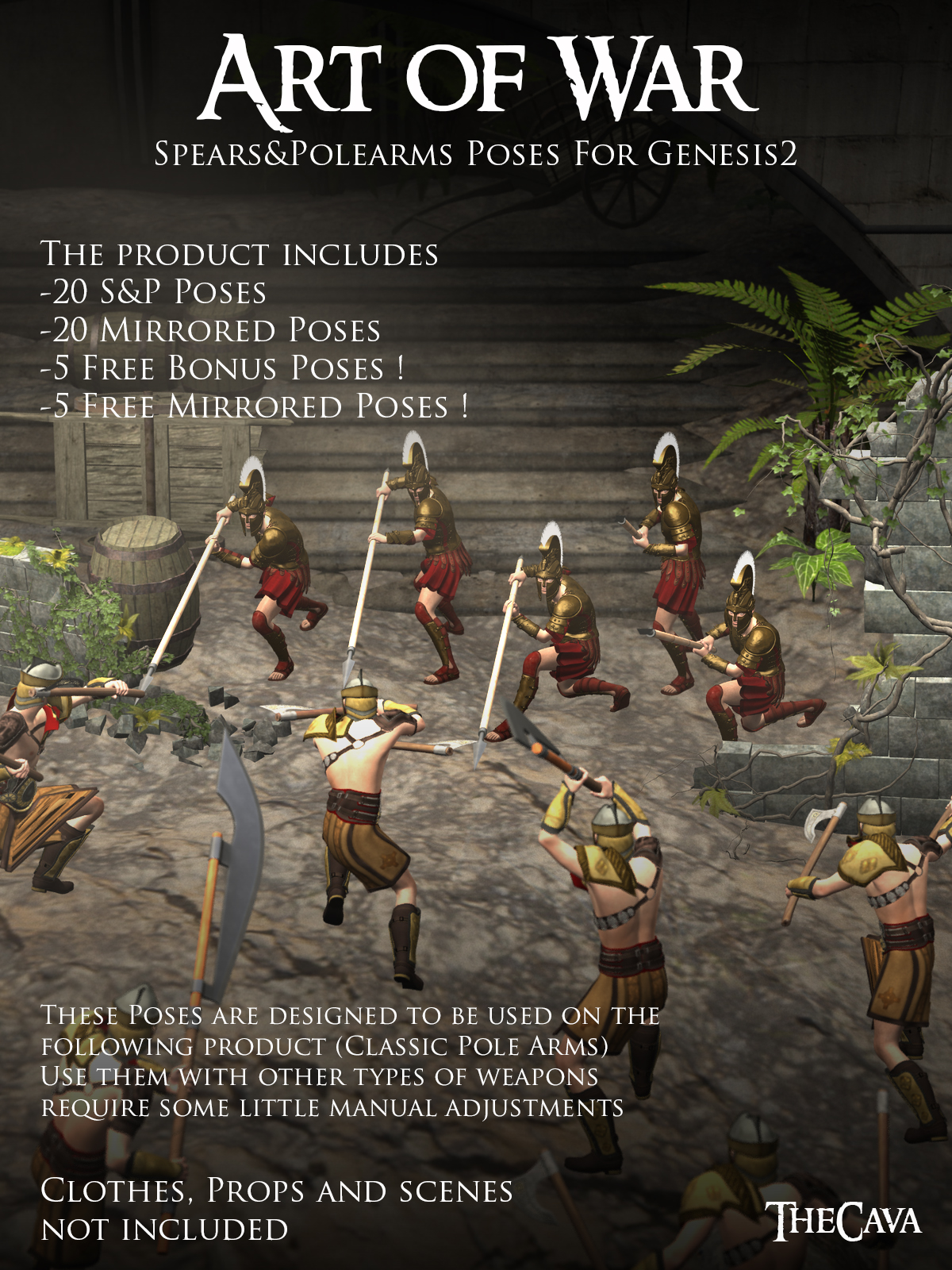 Art of War - The Ultimate Spears&Polearms; Poses for Genesis2byTheCava()