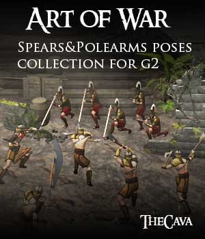 Art of War - The Ultimate Spears&Polearms Poses for Genesis2 3D Figure Assets TheCava