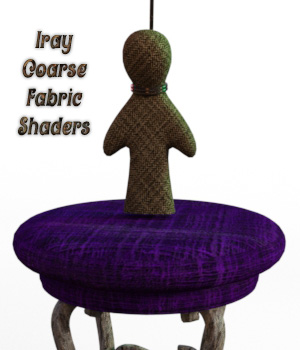 Iray Coarse Fabric Shaders 3D Figure Essentials fictionalbookshelf