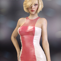 Devious Dress for Genesis 3 Females image 1