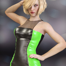 Devious Dress for Genesis 3 Females image 3
