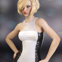 Devious Dress for Genesis 3 Females image 4