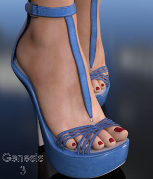 Strap Happy Too for Genesis 3 3D Figure Essentials WildDesigns