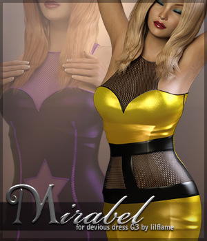 Mirabel for Devious Dress G3 3D Figure Assets Sveva